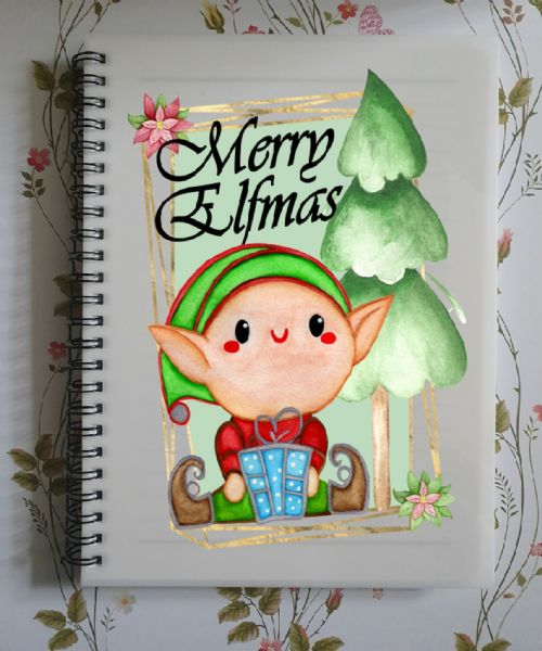 Merry Elfmas A5 Lined Notepad